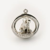 Pig On Rope - Pendant